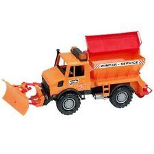 Bruder MB-Unimog Winterdienst mit Räumschild 02572 orange