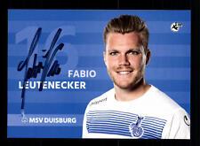 Fabio Leutenecker Autogrammkarte MSV Duisburg 2016-17 Original Signiert+A 142511