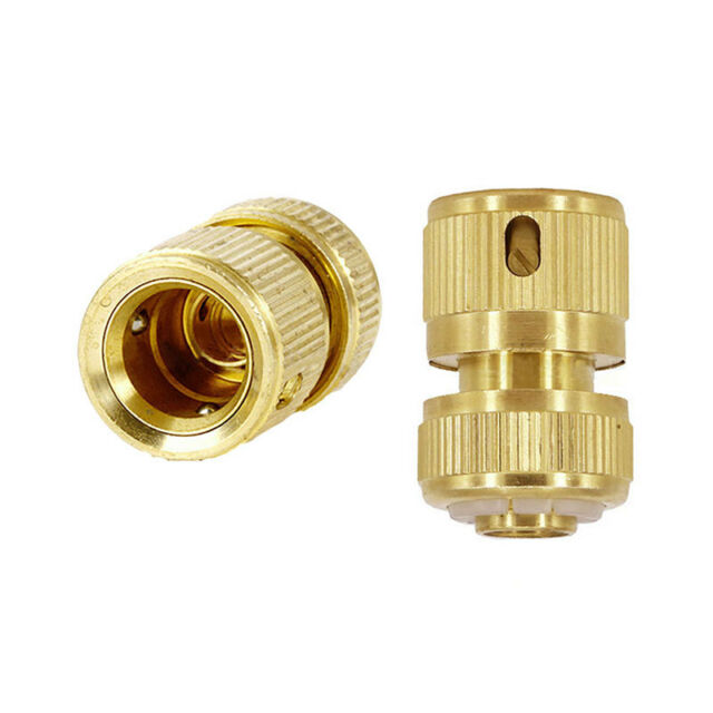 Garden Lawn Car Brass Water Hose Pipe Fitting Tap Adaptor Connector Pipe Nozzle
