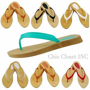 59b802237f4e51 Women Girls Summer Jelly Water Plastic Beach Color Wide Big Sandals ...