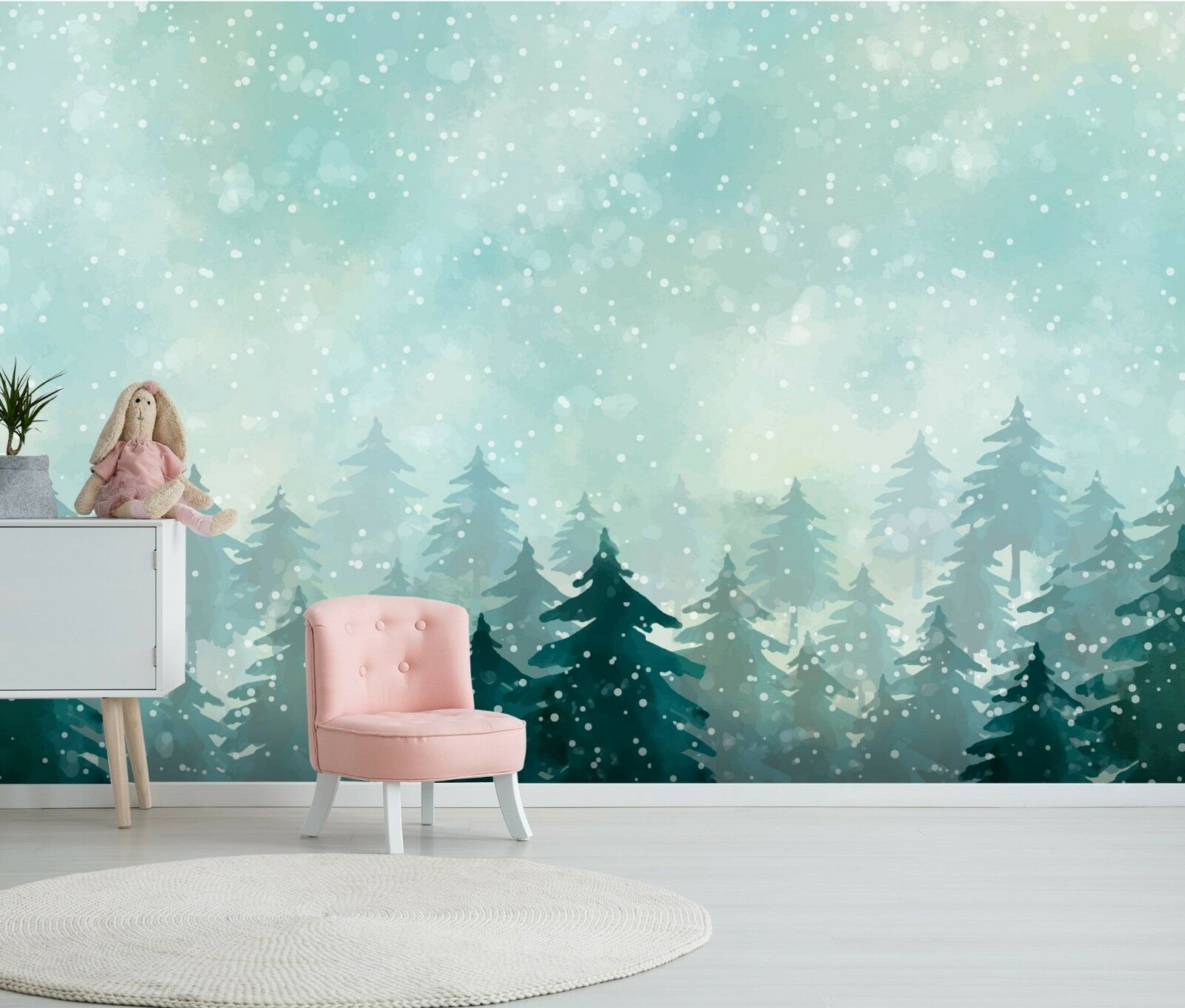 3D Snowflake Forest 564 Wallpaper Murals Wall Print Wallpaper Mural AJ WALL AU