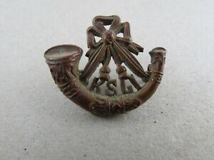 Military-Collar-Badge-King-039-s-Shropshire-Light-Infantry-British-Army