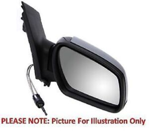 Right Driver Side OS Door Wing Mirror Black Cover Glass Cable