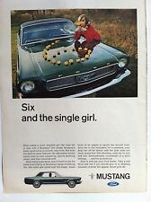 1966 FORD MUSTANG HARDTOP - SIX AND THE SINGLE GIRL RARE ORIGINAL AD