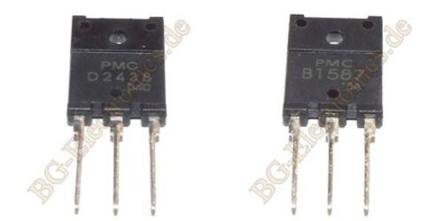 2 x 2SD2438 /& 2SB1587 2 Paare 2 pair 4 Transistoren    8A 75W 150V 150V PMC  TO