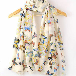 Women-Warm-Lady-Chiffon-Butterfly-Print-Neck-Shawl-Scarf-Scarves-Wrap-Stole-Gift