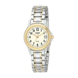 Citizen-Women-039-s-EU1974-57A-Quartz-Easy-Reader-Two-Tone-Bracelet-25mm-Watch