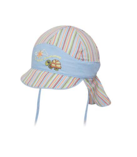 SOMMERMÜTZE Kindermütze Kinder Mütze mit NACKENSCHUTZ zum Binden 359 °NEU°