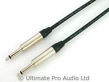 "1m Jack to Jack Neutrik NP2X 1/4"" Guitar Amp Cab PA Speaker Lead 1.5mm² HQ Cable"