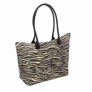 6cfe0f700513 Beach Bag Womens Summer Tote Animal Print Zebra Shoulder Shopping ...