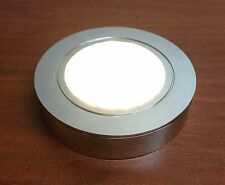 RV LED Round Ceiling Light IP44 Waterproof Surface Mount 24 Chrome Plated