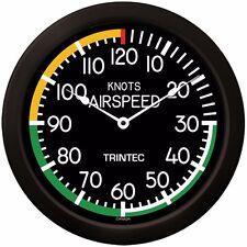 "Trintec Huge 14"" Modern Aviation Airspeed Indicator Wall Clock 2061-14 Aviatrix"