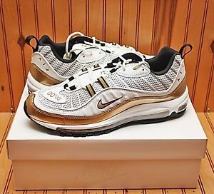 best service 4f6f4 39664 Details about 2018 Nike Air Max 98 UK Size 12 - Hyper Local QS White Gold -  Aj6302 100