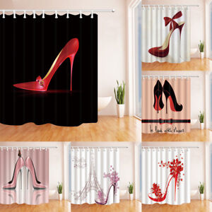 Image Is Loading High Heels Shoes Shower Curtain For Bathroom Home