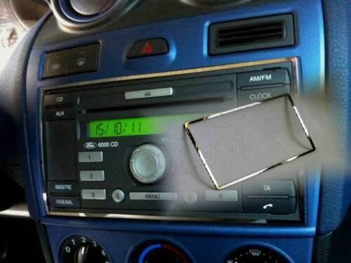 D FORD FIESTA 01-08 CROMO QUADRO PER RADIO-acciaio inox lucidato