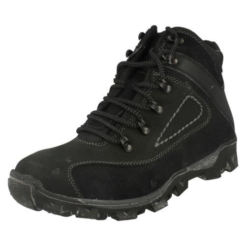 Synthétique Chaussures Hommes Leather A3034 Noir Marche Sw4EqgU