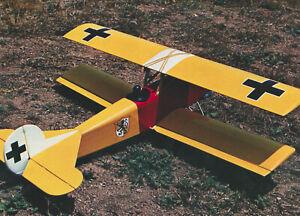 Importé De L'éTranger 1/9 Échelle Allemand Ww-i Fokker D-vii Biplane Plans, Gabarit, Montage 37ws Pure Blancheur