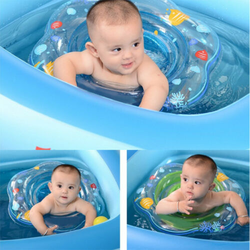 Baby Kid Swim Ring Inflatable Toddler Float Swimming Pool Water Seat Fun Safety