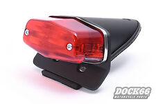 Lucas Style Rücklicht schwarz mit Halter für BSA, Café Racer, Harley Custombike