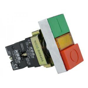 Doble-Boton-Luz-Pulsador-Interruptor-0-1-Rojo-Verde-Boton-NG22-BW8465-Xbs-4