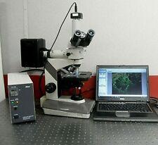 Nikon Labophot 2 Fluorescence Microscope 5mp Camera Excellent