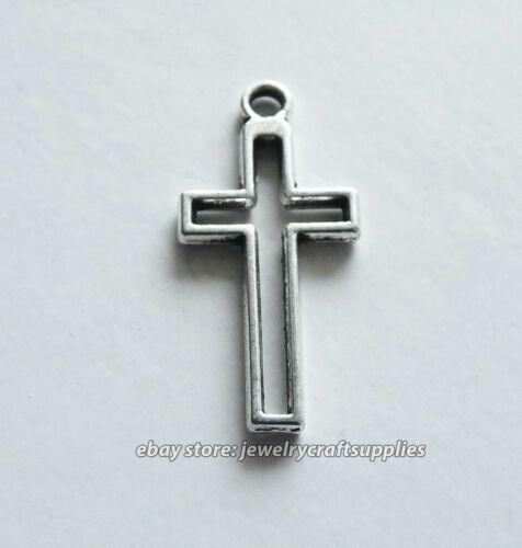 5//10x Cross Earring Charms for Bracelet Necklace Religious Pendant Supplies C286