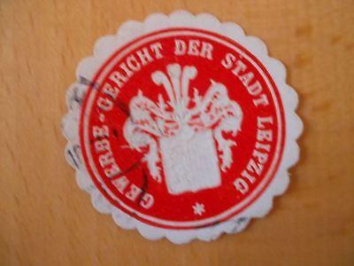 Gewerbe-gericht Der Stadt Leipzig Reinweiß Und LichtdurchläSsig 15326 Siegelmarke