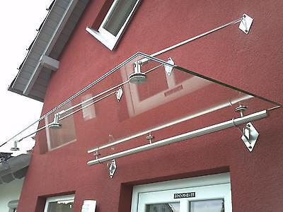 """Fassade Heimwerker FleißIg Edelstahl Glas Vordach""""phoenix"""" Vordächer Inkl.16mm Vsg-tvg Glas Vordach Weich Und Rutschhemmend"""