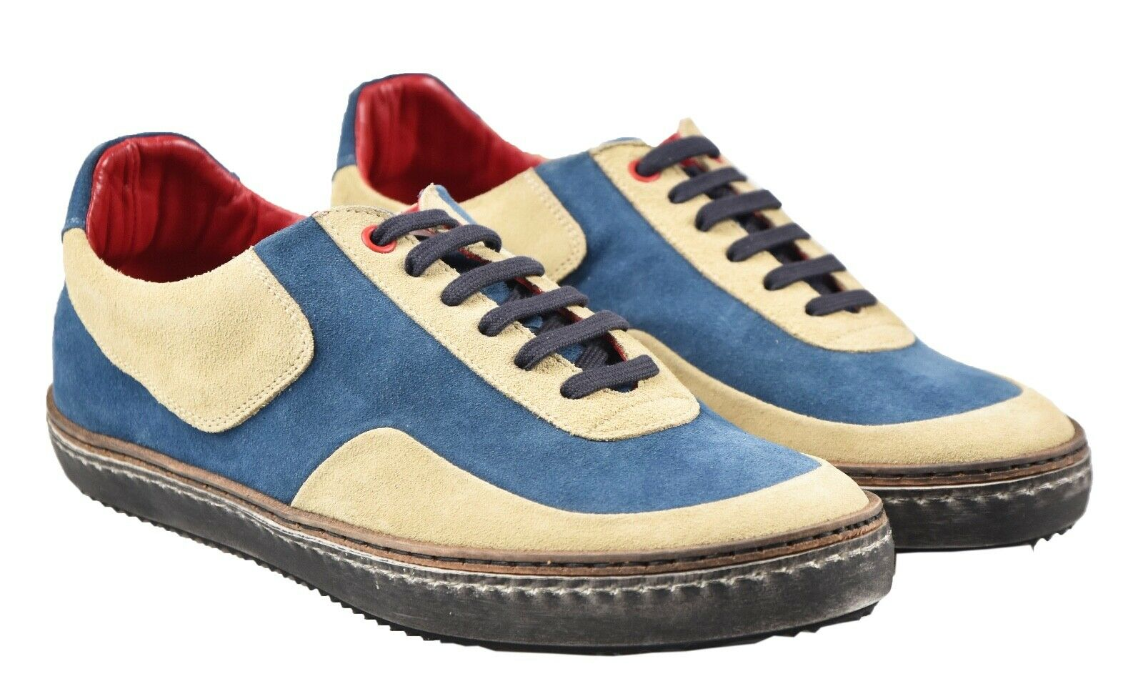 NEW KITON scarpe da ginnastica scarpe 100% LEATHER SZ 9 US 42 EU 19O137