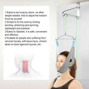 Over-Door-Cervical-Traction-Set-Hammock-Neck-Pain-Relief-Support-Stretcher