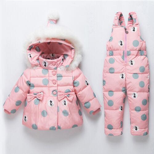 Baby Girl Winter Clothes Sets Suit For Girl Down Jacket Warm Jumpsuit Snowsuit
