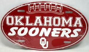 Oklahoma Sooners Oval License Plate Car Truck Novelty Vanity Tag OU Football