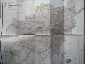 Details about 1965 Road Map of Afghanistan - Single-Sided, Approx 27