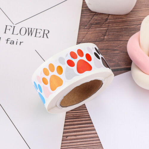 Sealing Label Bottle Tags Marker Pen Print Sticker Colorful Paw Labels Stickers