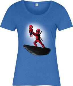 Détails Sur Deadpool Femmes T Shirt Spiderman Roi Lion Frauduleux Marvel Comics Afficher Le Titre Dorigine
