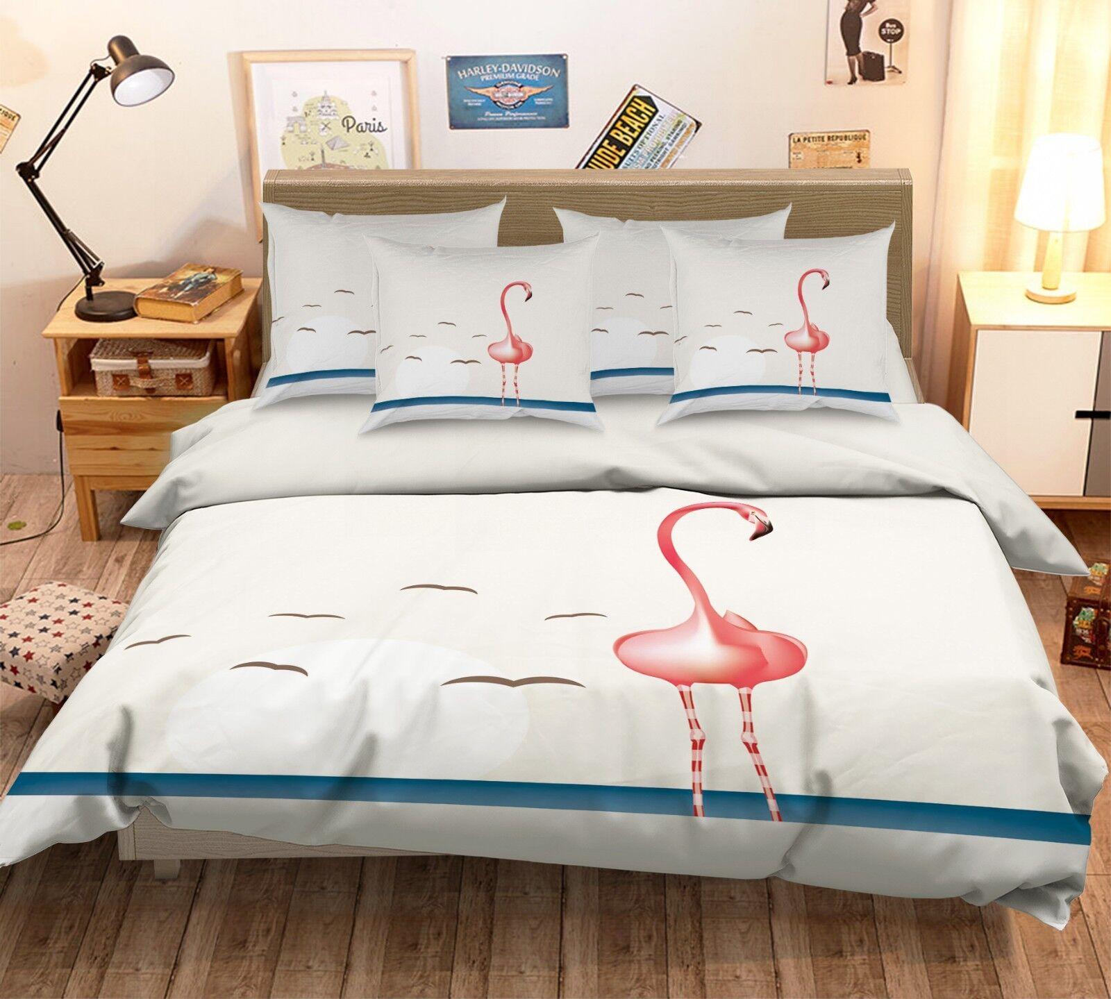 3D Heron Pattern 688 Bed Pillowcases Quilt Duvet Cover Set Single King UK Summer