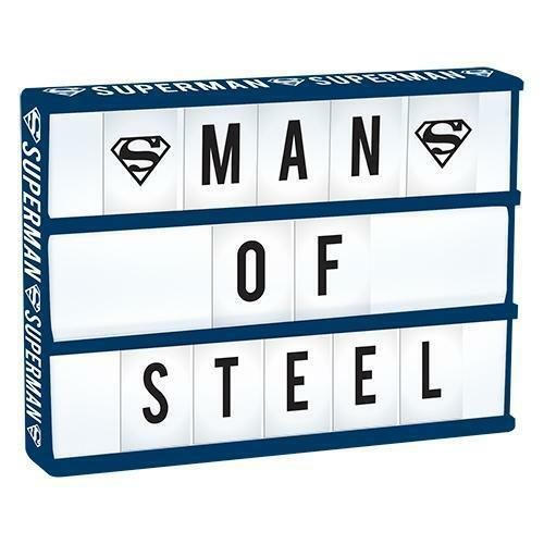124211 SUPERMAN LIGHT UP BOX WITH 85 LETTERS & SUPERMAN SYMBOLS DC COMICS