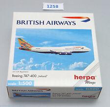 Herpa Boeing 747-400 British Airways Ireland  Nr: 511537 1:500 !! RARITÄT !!