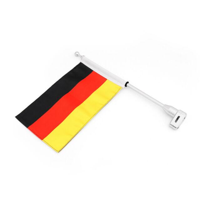 Fahnenstange Fahnemast Flaggenhalter Germany Für Honda GoldWing GL1800 01-12 BS7