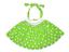 Ladies Polka Dot Rock n Roll Skirt /& Scarf Set Fancy Dress 50s Retro White Band