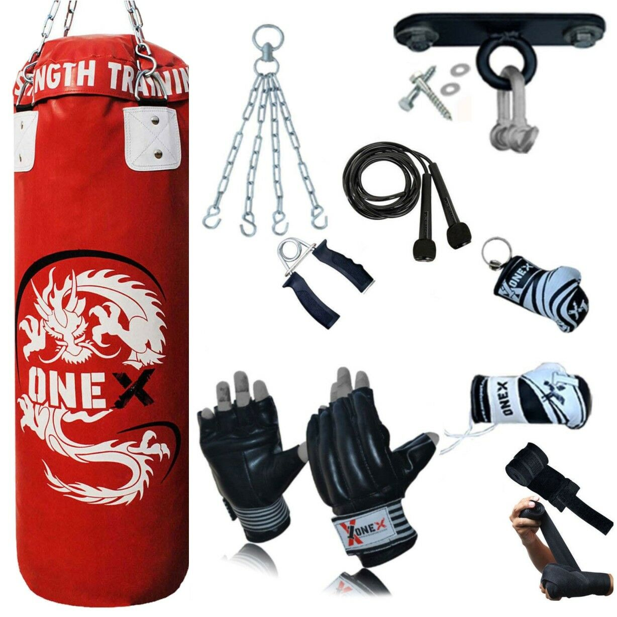 New 18-PCS 3FT Punch Bag Set For Kids,Adults And Girls MMA Boxing Training