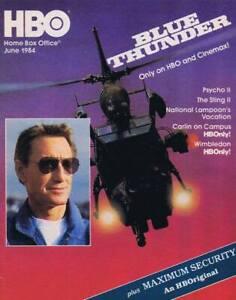 ORIGINAL Vintage June 1984 HBO Magazine Blue Thunder ...