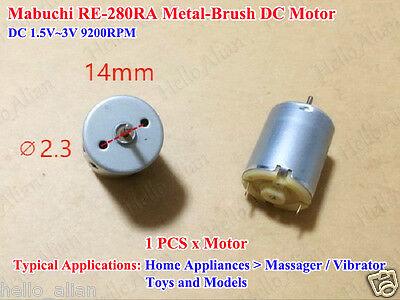 MABUCHI RF-N60CA 12mm*30mm Mini Cylinder DC Motor DC 1.5V-3V 16500RPM High Speed