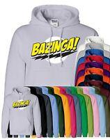 Mens Bazinga Hoodie Hooded Sweatshirt Pullover Sweat Hoody Jumper Sports Casual