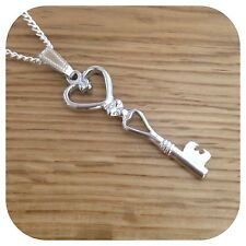 Alice in Wonderland Key charm necklace