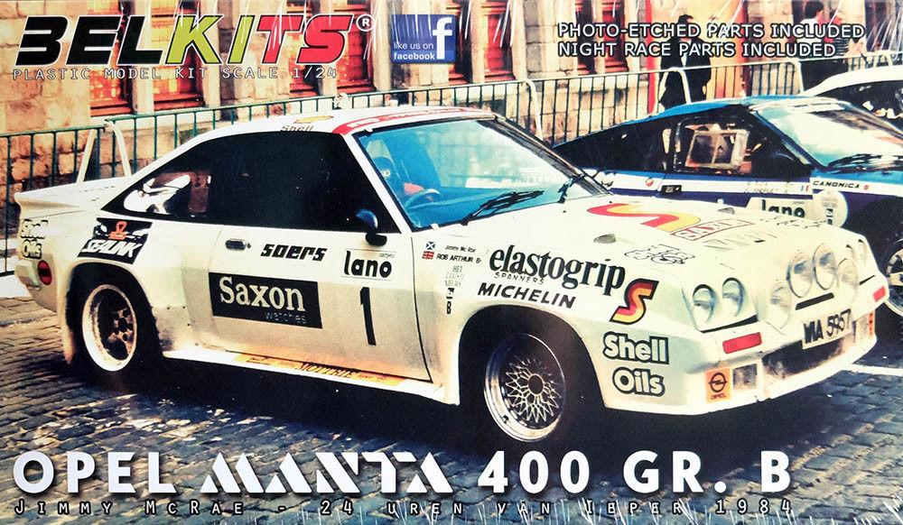 BELKITS 1 24 KIT AUTO OPEL MANTA 400 GR. B JIMMY MCRAE 1984 ART  BEL009