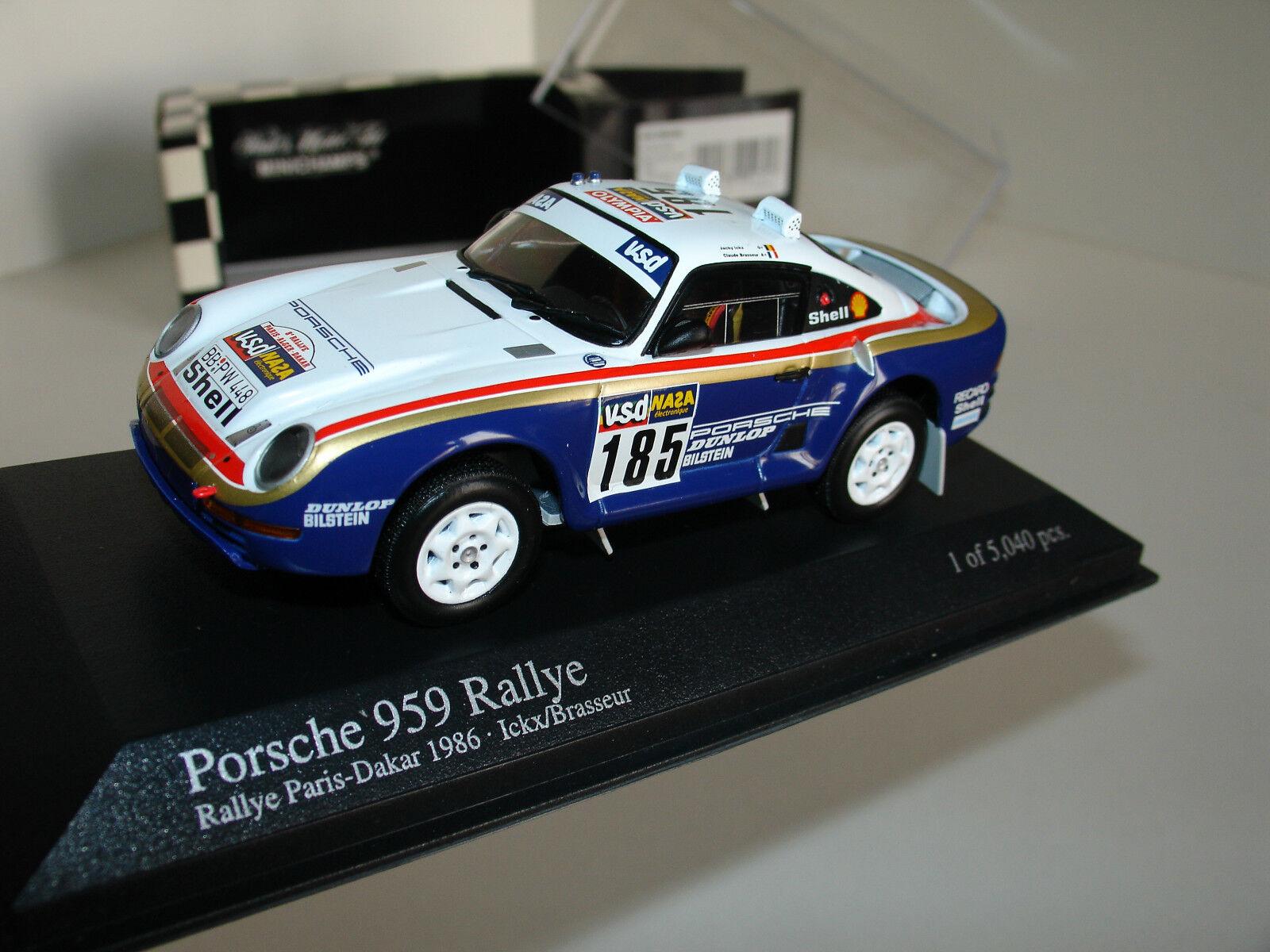 1 43 Porsche 959 Rallye Paris-Dakar 1986  185 por Minichamps