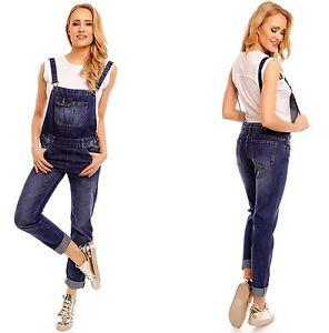 jeans latzhose damen overall jumpsuit tr ger hose. Black Bedroom Furniture Sets. Home Design Ideas