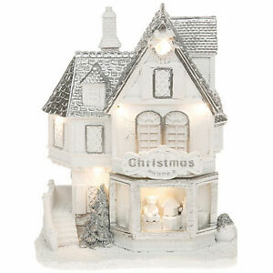 RRP-40-TOY-SHOP-Festive-Frost-LED-House-Christmas-Decoration-Glitter-Gift-Box