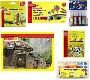 CAMEL colorazione Kit Combo Kids Art & Crafts creatività PITTURA Gift Set CAMLIN